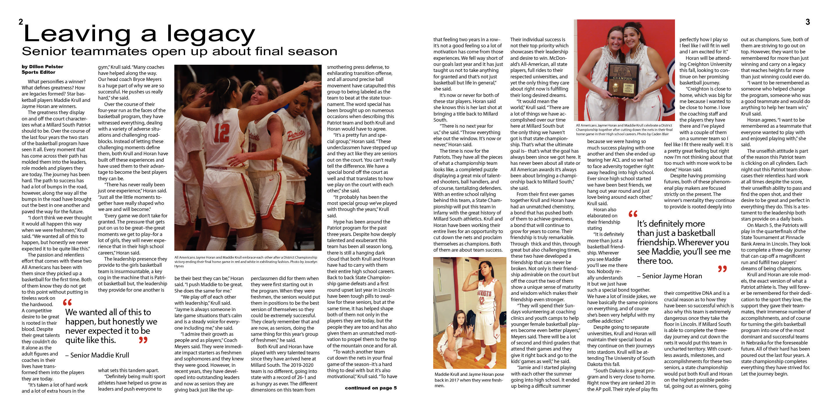 Special Girls Basketball Issue p2-3