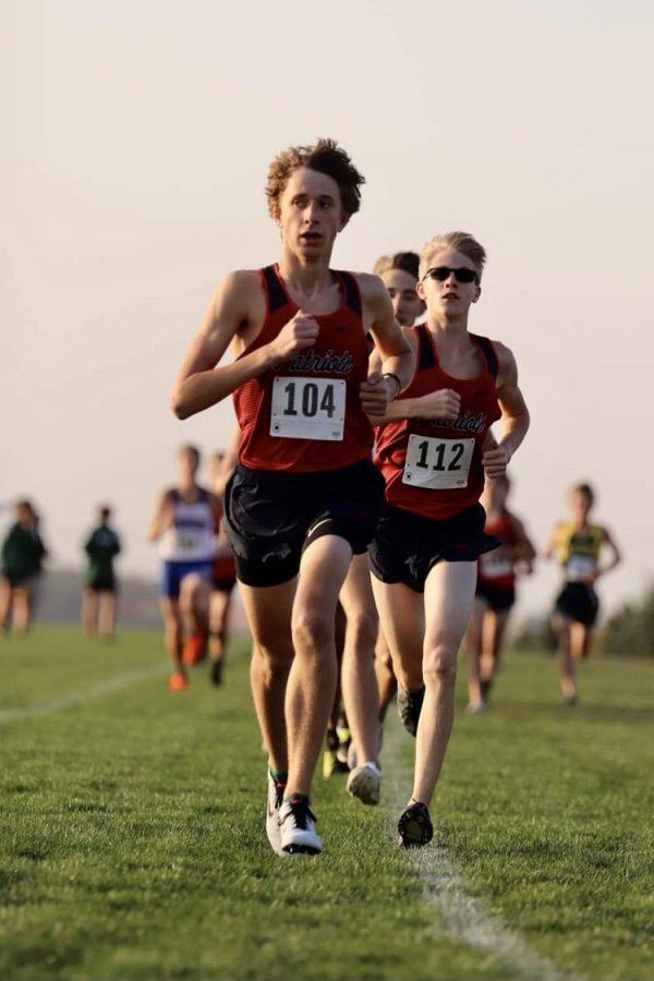 Freshman Dalton Heller gets a fast start to the race. Photo courtesy of PrepRunningNerd.