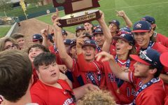 The team celebrates their first state championship since 1980. Photo courtesy of @11blair on Twitter.